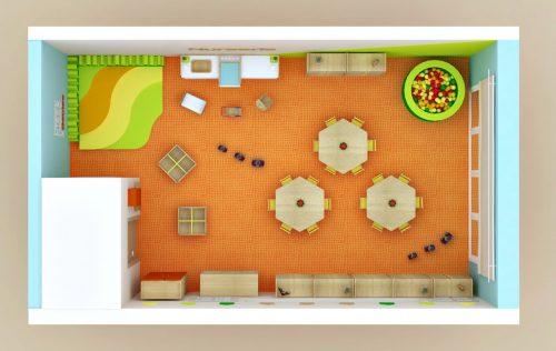 Plan aménagement nurserie